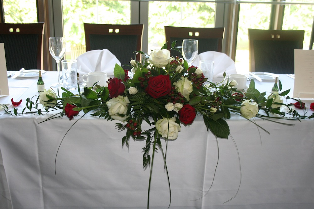 Wedding Flower Ideas For Top Table Flowers